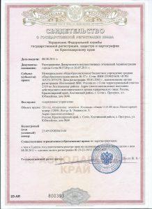 Свидетельство о государственной регистрации права на недвижимое иммущество